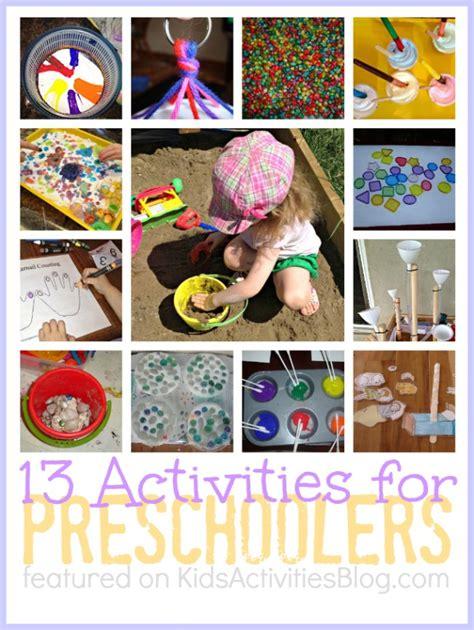 activities for preschoolers 13 activities for preschoolers
