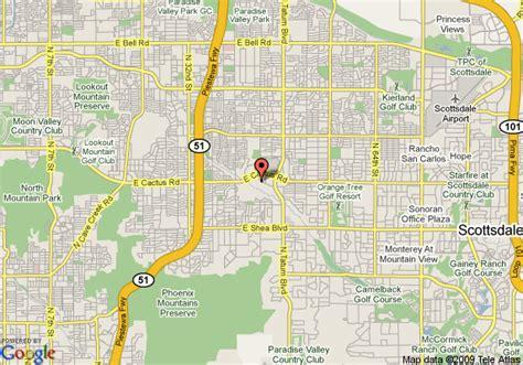 us map scottsdale arizona map of embassy suites hotel scottsdale