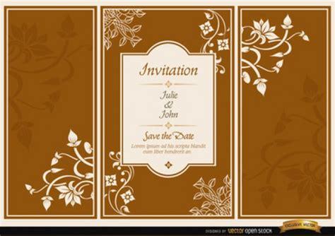 Indian Wedding Brochure by Brochure Wedding Invitation Vector Free