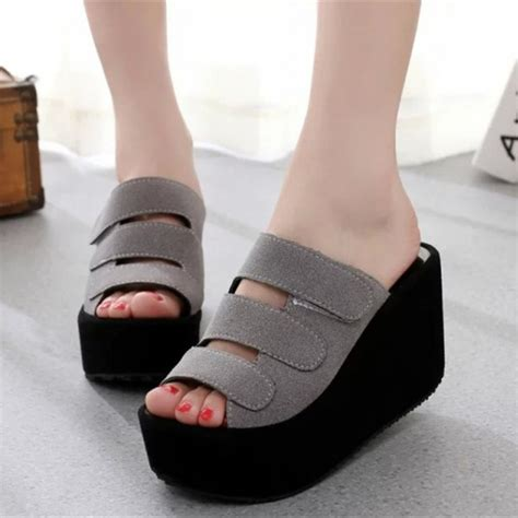 Wedges Wanita Modis Terbaru Wdgw31 sandal wanita wedges suede terbaru murah