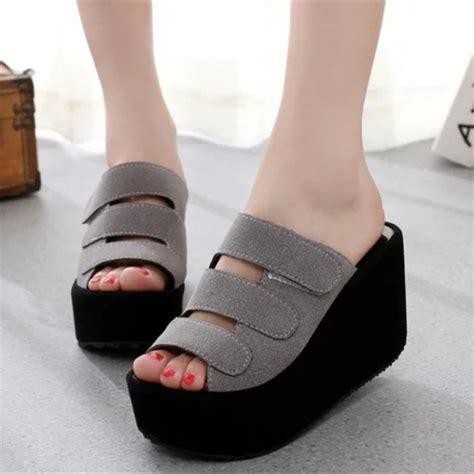 Sepatu Wanita Sepatu Hermes 2017 8 Wedges Cewek Branded Replika sandal wanita wedges suede terbaru murah