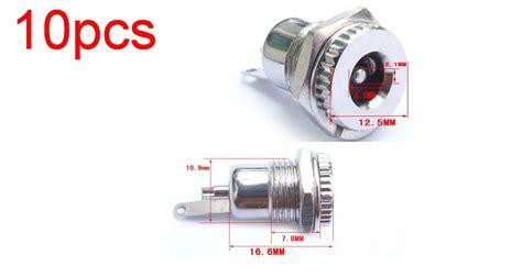 Dc Baut Betina 2 1 X 5 5mm Power Adapter Soket 10pcs high quality copper 5 5mm x 2 1mm dc socket power panel mount