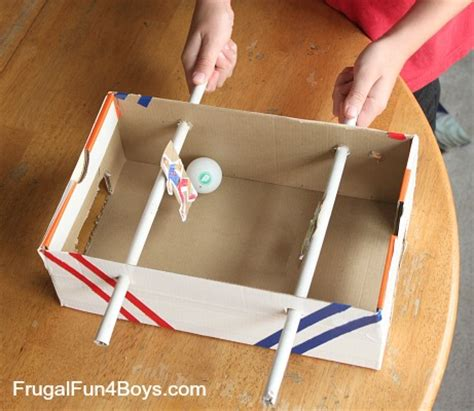 How To Make A Table Football Out Of Paper - make a shoebox foosball