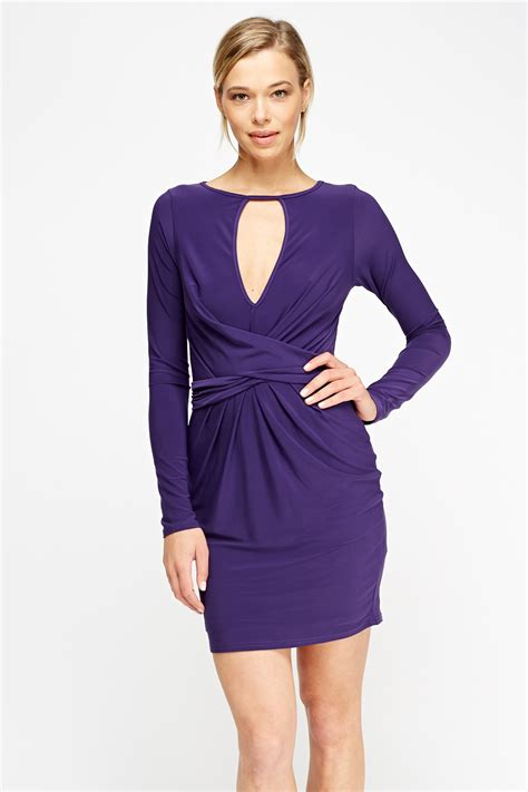 pattern house tie front dress tie up cut out front dress purple or royal blue just 163 5