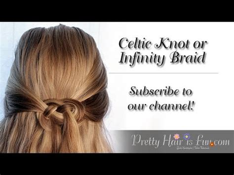 how to do an infinity knot how to do a celtic knot or infinity braid in your hair