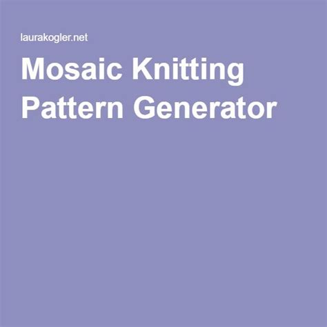 knitting pattern image generator 144 best images about knit and crochet on pinterest
