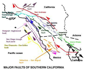map of san andreas fault in southern california dislocation mechanics in strained heteroepitaxial layer