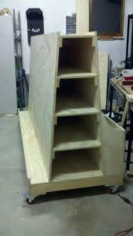 plywood storage rack woodworking projects plans