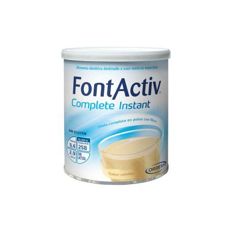 the complete how to instant fontactiv complete instant 400 g 12 lata vainilla