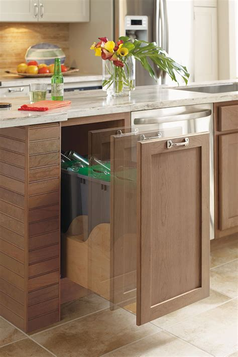 Masterbrand Cabinets One Touch by Touchless Trash Can Unit Omega Cabinetry