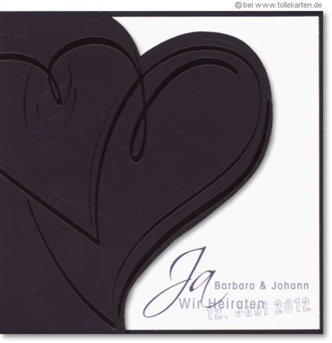 Hochzeitseinladungen Schwarz by Schwarz Einladungskarten