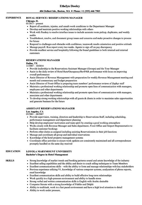 Reservation Specialist Cover Letter by Reservation Specialist Sle Resume Sle Of Resume For Application
