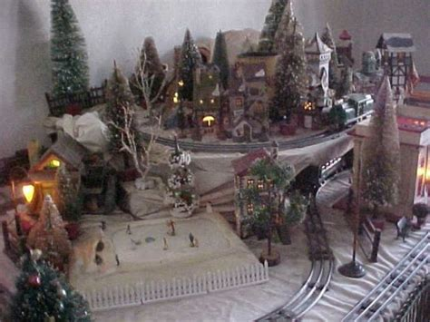 layout for christmas village christmas village putzes and train layouts submitted for 2008