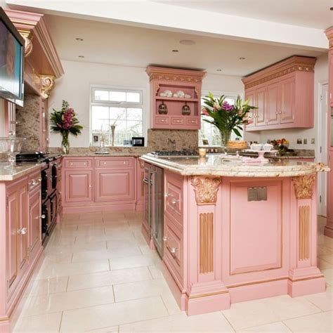 pink kitchens take a tour around this opulent georgian style kitchen