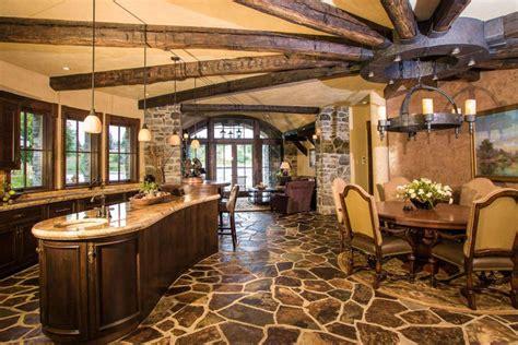 granite topped kitchen island 35 beautiful rustic kitchens design ideas designing idea