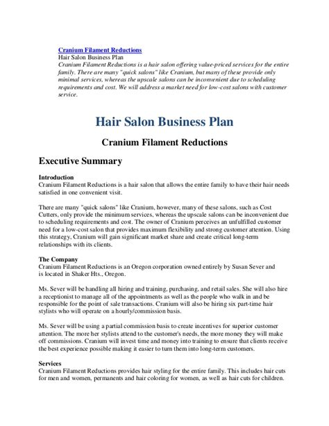 free hair salon business plan template 79742553 business plan hairl salon