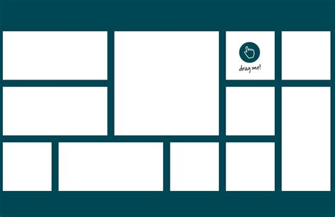 free image gallery templates intuitive draggable layout plugin for jquery gridster