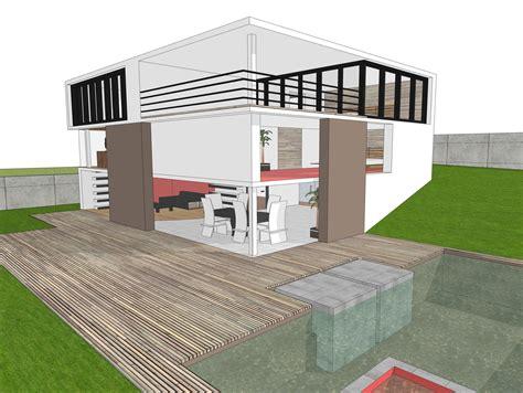 modern house free 3d model 3ds dae dwg skp cgtrader