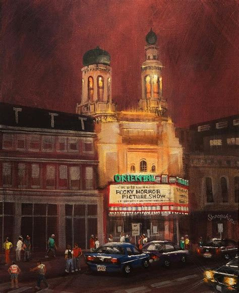 Apps For Floor Plans Ipad by Oriental Theater Milwaukee Painting By Tom Shropshire