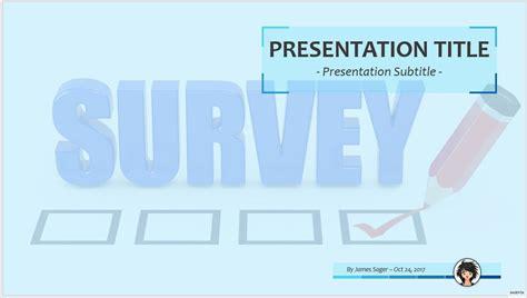 Free Online Survey Ppt 68564 Sagefox Powerpoint Templates Survey Powerpoint Template Free