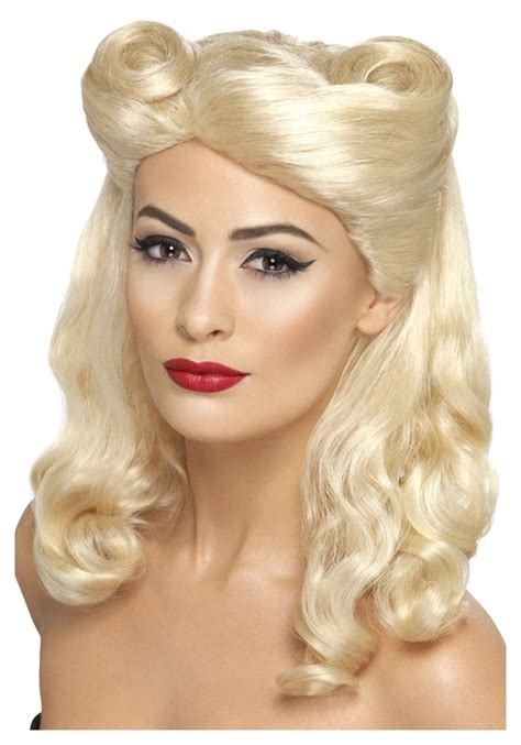 blonde women who are 40 40 s blonde pin up wig
