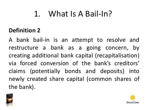 bank bond definition what is a bail in how to avoid deposit confiscation