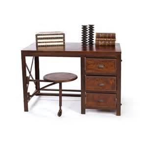 vintage industrial wood metal desk