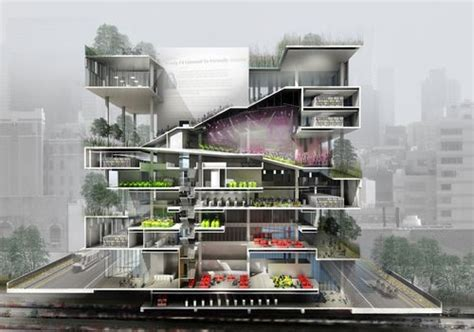 trends in architecture amazing rendered section perspective concept