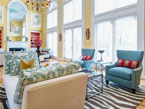 Yellow And Turquoise Living Room by Search Viewer Hgtv