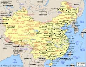 Map Of China Cities by Map Of China City Physical Province Regional