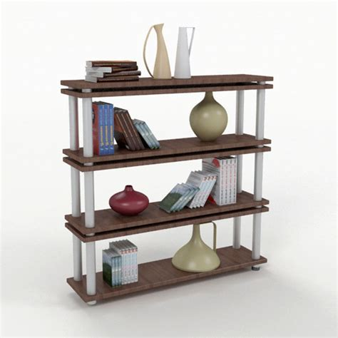 bookshelf 5 3d model max obj 3ds fbx cgtrader