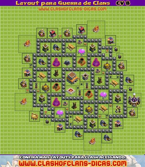 layout engraçados cv 8 clan wars layout cv 8 guerra de clash of clans 5 clash