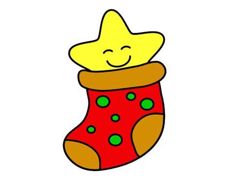imagenes animadas de estrellas de navidad dibujo de calcet 237 n con estrella pintado por chiqui mon en