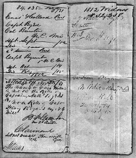 War Of 1812 Records Treasury 2