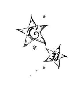 stelle con lettere stelle e lettere idee