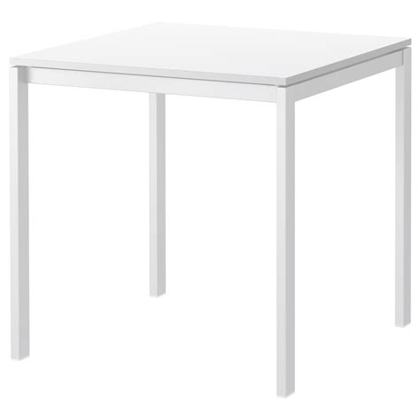 White Table by Melltorp Table White 75x75 Cm