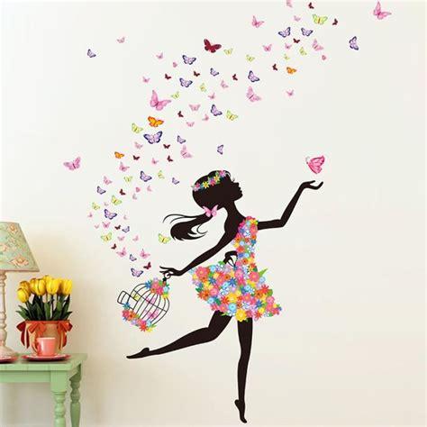 Stikers Chambre Fille by Flower Faerie Danse Fille Stickers Muraux Chambre Toile De