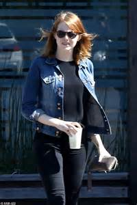 emma stone daily mail emma stone enjoys sushi lunch date in malibu with mystery