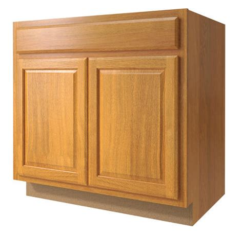 menards value choice cabinets value choice 33 quot huron oak standard 2 door sink base