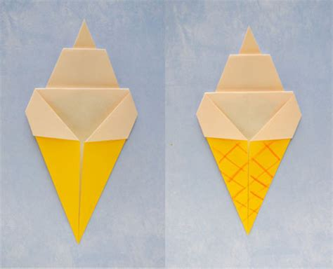 Origami Cones - origami cone 183 how to fold an origami food