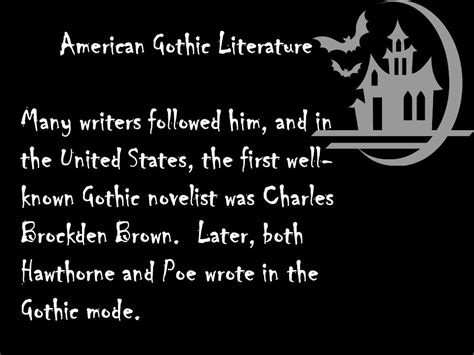 themes of american gothic literature american gothic literature ppt video online download