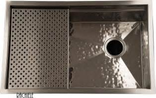 Hammered Stainless Steel Kitchen Sink Custom Made Stainless Steel Mount And Workstation Sinks By Rachiele