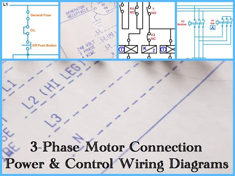 three phase motor power wiring diagrams