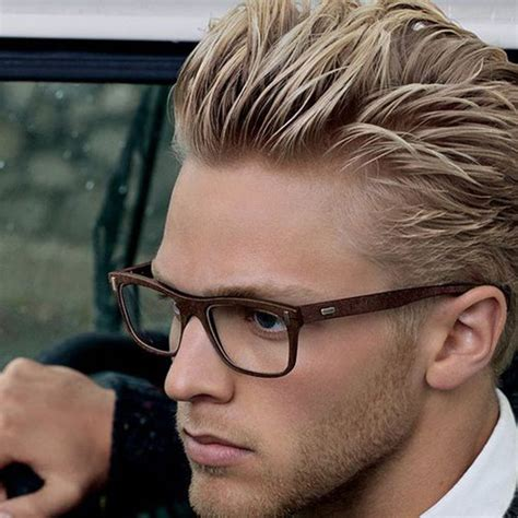 blonde hairstyles with glasses 19 blonde hairstyles for men men s hairstyles haircuts