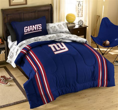 7pc new york giants full bedding set nfl football