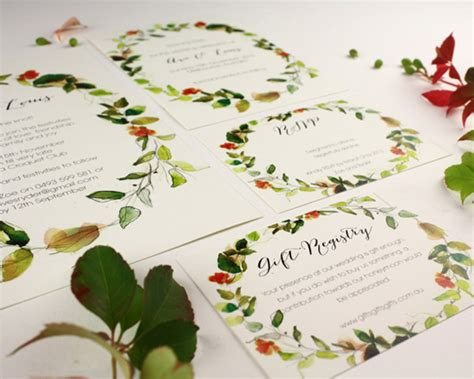 Water Themed Wedding Invitations by Watercolour Wedding Invitations