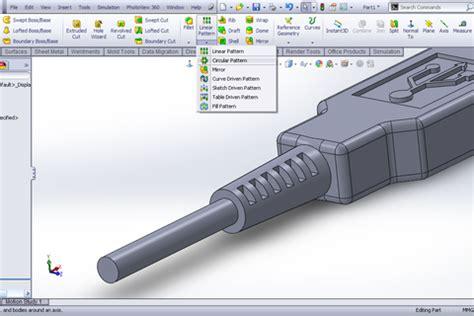 solidworks tutorial usb tutorial modeling usb head in solidworks part 3 grabcad