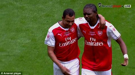 arsenal last match kanu lines up to start for arsenal against ac milan but he