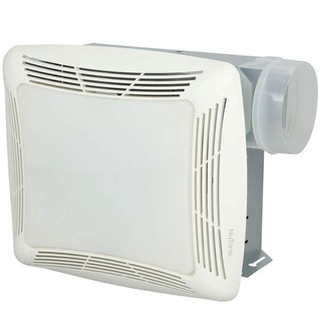Nutone 70 Cfm Ceiling Exhaust Fan With Light White Grille Nutone Bathroom Fan Light