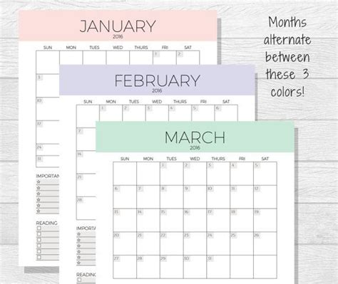 easy printable monthly calendar 2016 2017 monthly planner printable monthly calendar